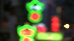 China Hong Kong Mong Kok neon signs light Stock Footage