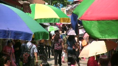 China Hong Kong traditional Chinese Street market Stock Footage
