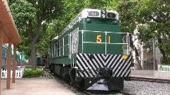 China Hong Kong Tai Po train museum Stock Footage