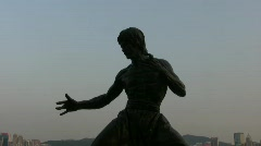 Hong Kong Chinese Wing Chun Kungfu master Bruce Lee Stock Footage