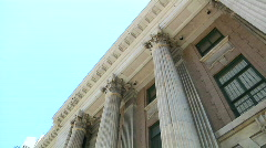 Stock Video Footage of Corinthian Columns Pan