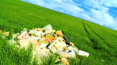 Environmental trash Stock Footage