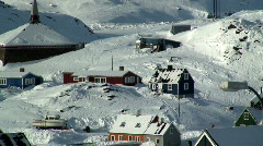 Stock Video Footage of Tasiilaq village East Greenland