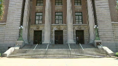 Courthouse Tilt Up Straight Stock Footage