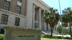 Courthouse with Sign Stock Footage