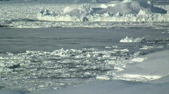 Frozen Sea Ice Tiniteqilaq Greenland - stock footage
