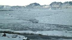 Frozen Sea Ice Tiniteqilaq Greenland Stock Footage