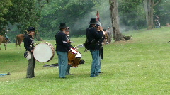 Fife and drum unit of Union army Stock Footage