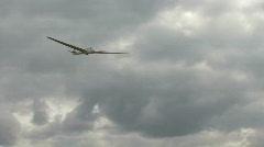 Glider lands after flight Stock Footage