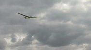 Glider lands after flight Stock Footage