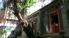 China Hong Kong Traditional Chinese Taoism temple Stock Footage