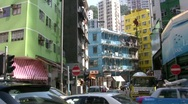 China Hong Kong Wan Chai nostalgic blue house Stock Footage