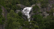Stock Video Footage of Yosemite : Cascade Falls 2 Zoom In