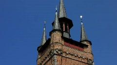 Europe Belgium Tournai medieval town Stock Footage