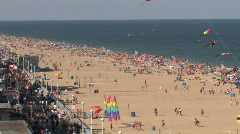 A beautiful view of Ocean City Beach on the Atlantic coast. Stock Footage
