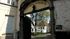 Europe Belgium Kortrijk Beguinage Beginenhof St. Elisabeth Stock Footage