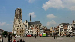 Europe Belgium Mechelen Grote Markt, Main square Stock Footage