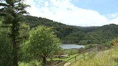 Glendalough Lake Pan from Walkway Stock Footage