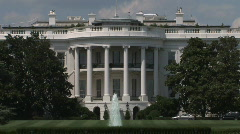 The White House of the President of the United States in Washington, DC - stock footage