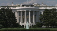 Stock Video Footage of The White House of the President of the United States in Washington, DC