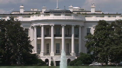 White House Zoom Out in Washington, DC Home of President of The United States Stock Footage