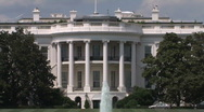 Stock Video Footage of White House Zoom Out in Washington, DC Home of President of The United States