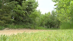 the old west, horse and buggy, ground angle through frame - stock footage