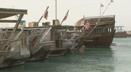 Stock Video Footage of Qatar Corniche Boats 7
