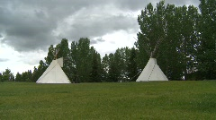 native indian teepees, #3 - stock footage