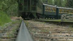 Railroad, old style steam train, #1 Stock Footage