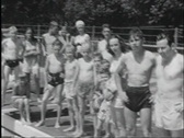 Stock Video Footage of 40s swimming pool