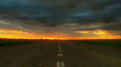 Sunset over road hdr time lapse - stock footage