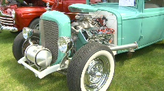 Green hot-rod montage Stock Footage