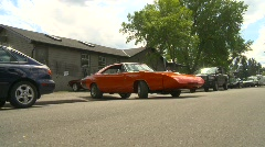 Stock Video Footage of Dodge daytona charger, rare car