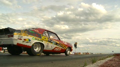 Motorsports, drag racing launch, Gen 2 Nova Launch through frame Stock Footage