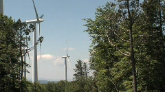 Windmill in the forest ( éoliennes dans la forêt ) Stock Footage