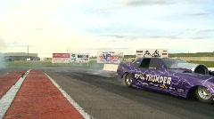Motorsports, drag racing jet car show, danger close Stock Footage