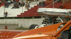Motorsports, drag racing snap zoom back Stock Footage