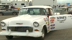 motorsports, drag racing, racers waiting in staging lanes - stock footage
