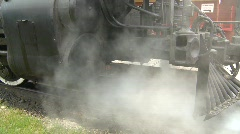 railroad, old style steam train montage - stock footage