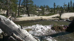 Spring runoff, slow motion Stock Footage