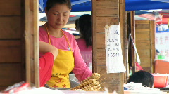 Chinese fast food stalls Stock Footage