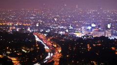 LA overlook - stock footage