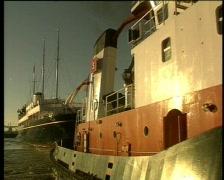 Royal Yacht Britannia Stock Footage
