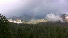 Yosemite : Glacier Point - Rainbow 2 Zoom In Stock Footage