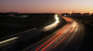 Highway sunset time lapse Stock Footage