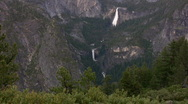 Stock Video Footage of Yosemite : Glacier Point - Vernal Fall 1 LS Loop