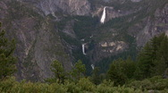 Stock Video Footage of Yosemite : Glacier Point - Vernal Fall 1 Zoom In