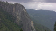 Stock Video Footage of Yosemite : Merced Canyon Landscape Zoom Out