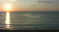 Virginia Beach sunrise Stock Footage